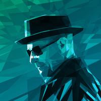 Heisenberg Stretched Canvas by Mobokeh