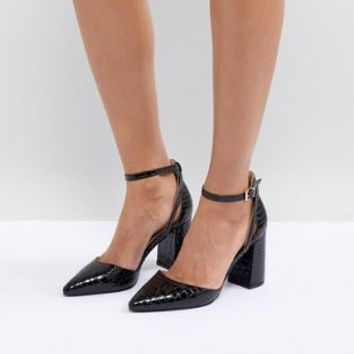 RAID Katy Black Block Heeled Shoes at asos.com
