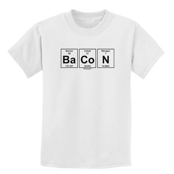 Bacon Periodic Table of Elements Childrens T-Shirt by TooLoud