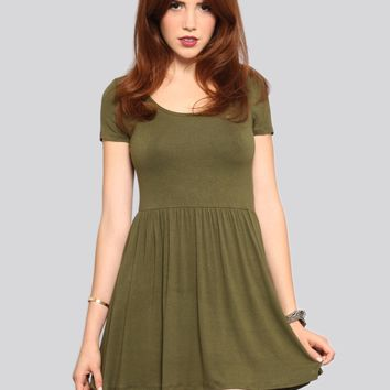 Courtney Babydoll Dress - Olive - What's New | GYPSY WARRIOR