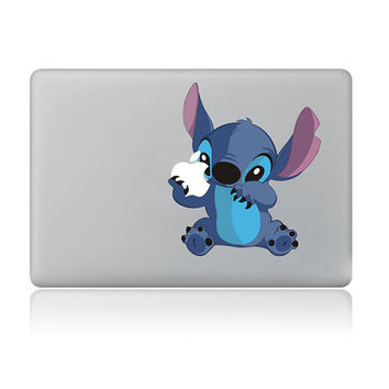 "Stitch Carton DIY MacBook Skin Decal Sticker for Apple Macbook Pro Air Mac 13"" inch Laptop 13 Inch SKI-003"