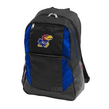 Kansas Jayhawks KU Backpack Laptop Closer Bookbag