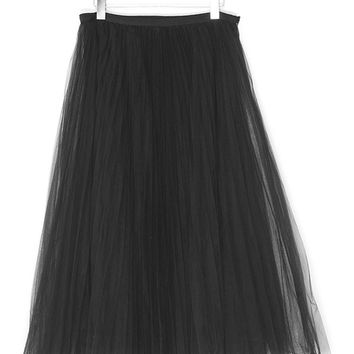Tulle Lace Black Skirt