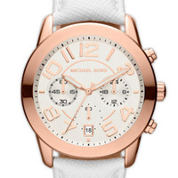 Michael Kors 'Mercer' Chronograph Leather Strap Watch | Nordstrom