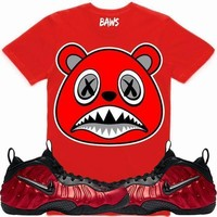 Angry Baws Red Shirt - University Red Foamposites