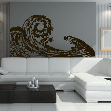 Vinyl Wall Decal Sticker Big Waves #1220