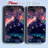 Tangled Rapunzel Meets Flynn Custom iPhone 4 or 4S Case Cover