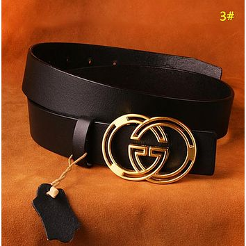 GUCCI Fashion New GG Buckle Women Men Leisure Belt 3#