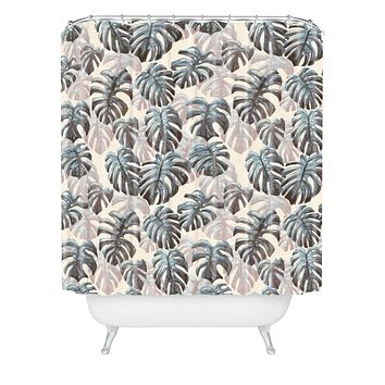 Dash and Ash Palm Springs Blues Shower Curtain