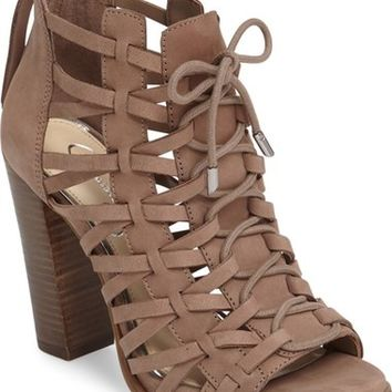 Jessica Simpson Riana Woven Leather Cage Sandal (Women) | Nordstrom