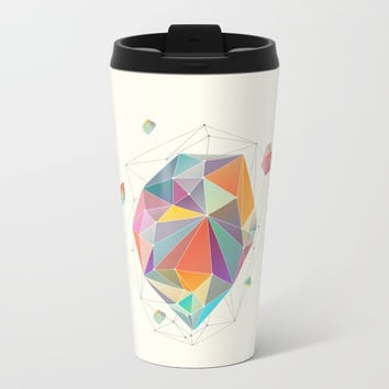 Crystallized VII Metal Travel Mug by printapix