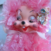 1950's Handmade Easter Bunny Decoration - Ultra Kitsch