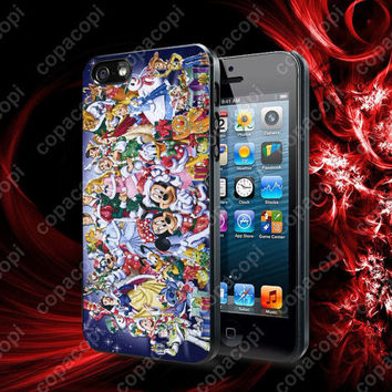 Walt Disney All Character Design case for iPhone 4, 4S, 5, 5S, 5C and Samsung Galaxy s2, S3, S4