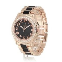 XOXO Women's XO5473 Rose Gold with Black Epoxy Analog Bracelet Watch: Watches: Amazon.com