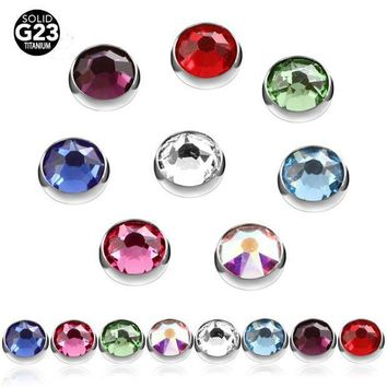 ac ICIKO2Q 10pcs 100% Titanium Gem Micro Skin Diver Dermal Anchor Highly Polished Hide In Surface Attchments Mamilo Pircing Body Jewelry