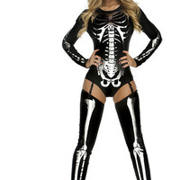 Snazzy Skeleton Sexy Costume  #554640