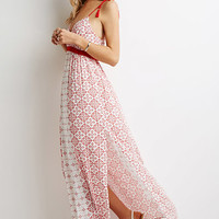 Floral Side-Slit Maxi Dress