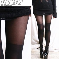 False Hold up Thigh Hi Stocking Sheer Pantyhose Tights