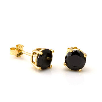 King Ice Black CZ Studs