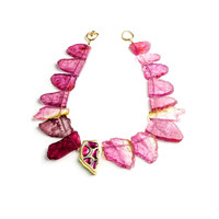 Raw Tourmaline Slice Necklace - Kara Ross New York