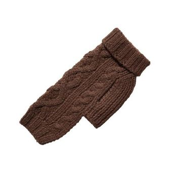 Nantucket Cable Knit Wool Sweater — Chocolate