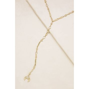 Fashionably Late Drop Choker in Gold