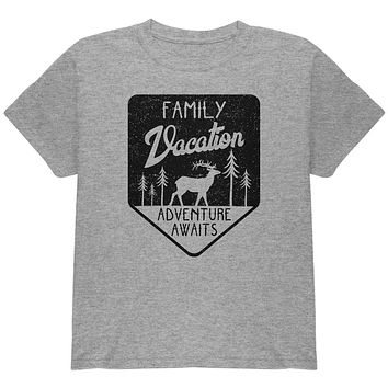 Family Vacation Adventure Awaits Youth T Shirt