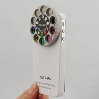 White Special Lens & Filter Turret Hard Case For Apple Iphone 4 4S  +SP