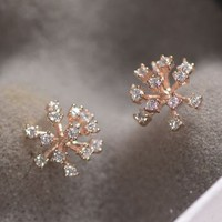 Dandelion Rhinestone Statement Earrings