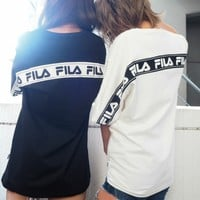 FILA Women Summer Loose T-shirt