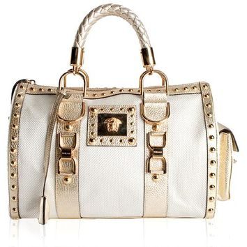 Versace 'Snap Out Of It' Satchel Handbag | Versace Handbags- Bag Borrow or Steal