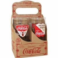 Coca Cola 4 Hi Ball Glasses Carry Pack : TruffleShuffle.com