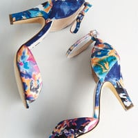 Fine Dining Heel in Watercolor | Mod Retro Vintage Heels | ModCloth.com