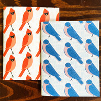 Red Bird Blue Bird Pocket Notebook Set