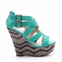 Heartbreaker Wedge-Turquoise *FINAL SALE!*