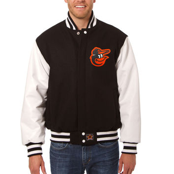 Baltimore Orioles Wool And Leather Varsity Jacket