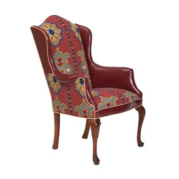 Pre-owned Upholstered Vintage Wing Chair