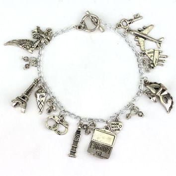 New Fashion Jewelry Fashion Pretty Little Liars Ultimate Fifty Shades of Grey Handcuff Charm Bracelet Jewelry
