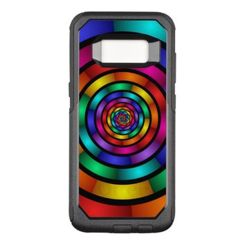 Round and Psychedelic Colorful Modern Fractal Art OtterBox Commuter Samsung Galaxy S8 Case