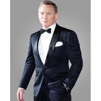 Midnight blue Skyfall Daniel Craig James Bond Tuxedo Suit