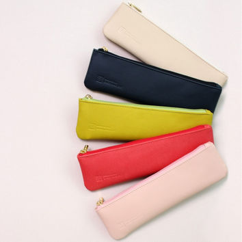 Slim and modern zipper pencil case