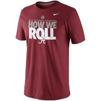 Nike Alabama Crimson Tide 2012 BCS National Champions Celebration How We Roll T-Shirt - Crimson