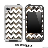 Real Camouflage and White Chevron Pattern for the iPhone 5 or 4/4s LifeProof Case