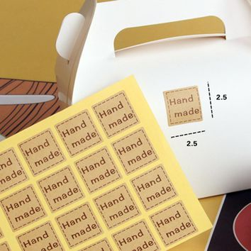 New 240pcs Handmade Food Tags Labels Gift Christmas Decoration Tag Sticker Paper Not Etiquetas Kraft