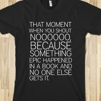 Book Moment-Unisex Black T-Shirt
