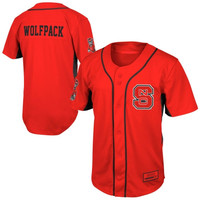 North Carolina State Wolfpack Fielder Baseball Jersey - Red