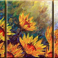 Flowers of the Sun Canvas Wall Art