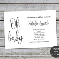 Baby Shower Invitation Gender Neutral Baby Shower Invitation Personalised Invitation Baby Shower Invites Printable Digital Files (L16)