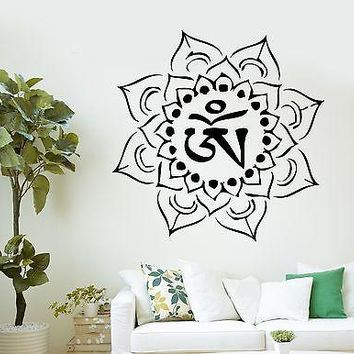Wall Decal Buddha Om Mandala Chakra Ornament Vinyl Sticker Unique Gift (z2883)