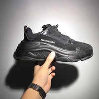 Balenciaga Full Black Mixed Colors Retro Sneakers B-CSXY Running Shoes
